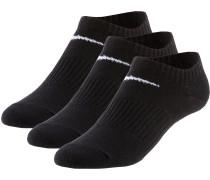 LIGHTWEIGHT NO SHOW Socken Pack, schwarz