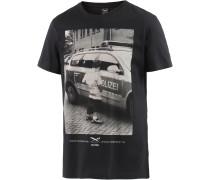 Pissizei Printshirt Herren, schwarz