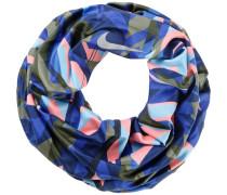 Loop, oliv/blau/rosa