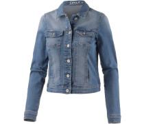 Jeansjacke Damen, blue denim washed