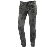AleenaTZ Skinny Fit Jeans Damen, grau