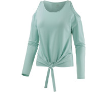 Off Shoulder Langarmshirt Damen, grün