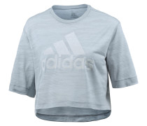 Box Crop T-Shirt Damen, white/clear onix
