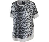Lissannah Printshirt Damen, grau/leo
