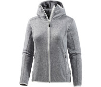 Kitz Strickfleece Damen, grau