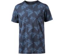 Tropical Printshirt Herren, blau/allover