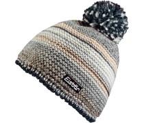 Mütze Kunita Pompon Bommelmütze, grau