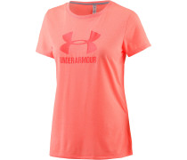 Threadborne Train T-Shirt Damen, orange/melange