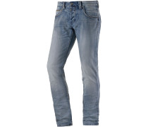 Edo TZ Slim Fit Jeans Herren, light washed denim