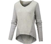 V-Pullover Damen, grau