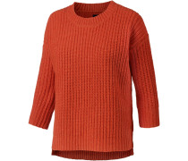 Strickpullover Damen, orange