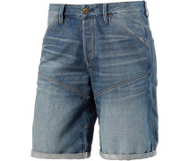 5621 3D Jeansshorts Herren, blue washed denim