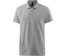 Essential Base Poloshirt Herren, medium-grey-heather