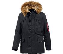 Polar Jacket Parka Herren, schwarz