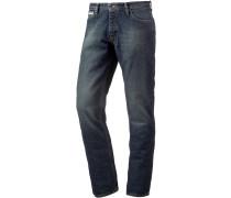 Standard Straight Fit Jeans Herren, schwarz