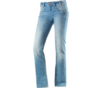 Silca Bootcut Jeans Damen, light washed denim