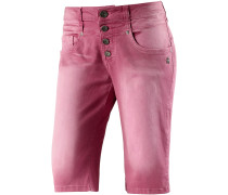 Juno Jeansshorts Damen, pink washed