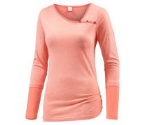 Asym Stripe Langarmshirt Damen, rosa
