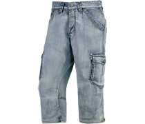DamiroTZ 3/4-Jeans Herren, light washed denim