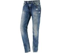 Idoler Boyfriend Jeans Damen, bluegrey denim