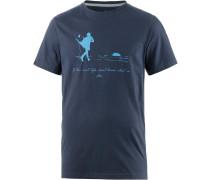 Live Life Printshirt Herren, blau