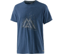 Reaxion T-Shirt Herren, shady blue heather