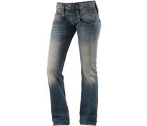 Pitch Straight Fit Jeans Damen, blau