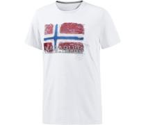 Sollas Printshirt Herren, weiß
