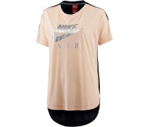 NSW Top SS Air T-Shirt Damen, ORANGE QUARTZ/BLACK