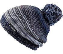 Mütze Kunita Pompon Bommelmütze, blau