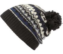 Mütze Jack Beanie Bommelmütze, schwarz