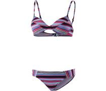 Flamengo Beach Bügelbikini Damen, kirsche/blau/marine