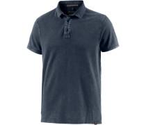 Poloshirt Herren, dunkelblau washed