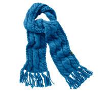 Chunky Strickschal, blau