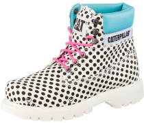 Colorado Bootie Damen, weiß/gepunktet