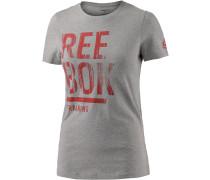 T-Shirt Damen, grau/melange
