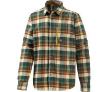 Cooper Outdoorhemd Herren, grün/braun/weiß