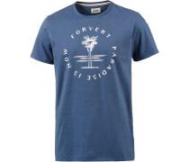 Populus Printshirt Herren, blau