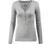 Langarmshirt Damen, light grey
