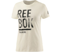 T-Shirt Damen, weiß/melange