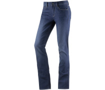 3301 Contour High Straight Straight Fit Jeans Damen, medium blue denim