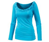 Langarmshirt Damen, blau
