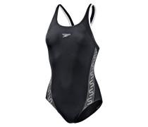 Monogram Muscleback Schwimmanzug Damen, mehrfarbig