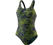 Boom Allover Muscleback Schwimmanzug Damen, navy/lime punch