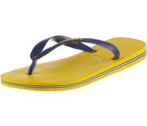 Brasil Logo Zehensandalen Herren, Gelb/Blau