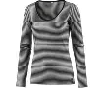 Siren Unterhemd Damen, schwarz/weiß/gestreift