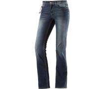 Ella Straight Fit Jeans Damen, blau