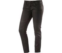 Aura Skinny Fit Jeans Damen, schwarz
