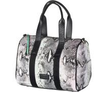 Handtasche Damen, schwarz/mint/apricot