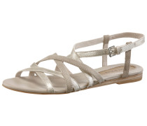 Sandalen Damen, beige/silberfarben